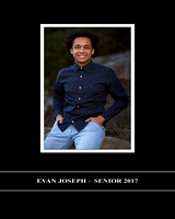EVAN'S SENIOR PORTRAITS BOOK